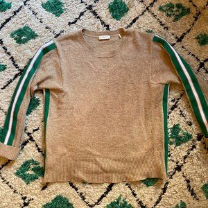 Sandro Camel Wool Sweater with Green lining